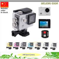 Wholesale remote control waterproof video camera resale online - Newest inch H9R Ultra HD K Video Action Camera Wifi G M waterproof HD1080P PFS Remote Control Sport DV