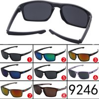 Wholesale Newest Designing Sunglasses - summer newest style sunglasses for men sports Glasses Dazzle colour cycling goggle Famous Design fashion outdoor driving glasses A+++++ 9246