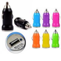 araç şarj aleti kullan toptan satış-Mini tek USB araç şarj Evrensel araba soket kullanımı adaptörü bullet stil Iphone 7 7 artı 6 6 artı Samsung HTC için
