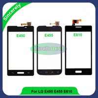 Wholesale Lg Optimus L5 Phone - Touch Screen for LG Optimus L5 II E460 E450 L5 II Dual E455 L5X E610 Digitizer Sensor Front Glass Lens Panel Phone Parts