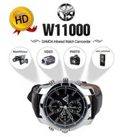 Wholesale Spy Watch 16g Ir - 1080P Spy Camera Camcorder Watch 16GB Hidden DVR IR Night Vision Waterproof Supports IR camera Freeshipping
