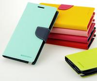 "Wholesale Mercury Case Korea - DHL Free Shipping Korea Style MERCURY Goospery Flip Wallet Leather Cover Fashion Stand Case For Apple iPhone 7 4.7"""