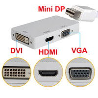 3 in1 Visualizzare Cavo adattatore Port convertitore Mini DP HDMI VGA DVI 1080P HD per Apple Macbook Microsoft Surface