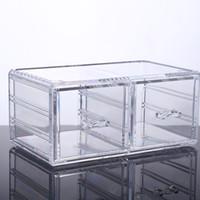 organisateurs de tiroir en acrylique clair achat en gros de-2016 Nouvelle usine Hot clear grand 2 tiroir acrylique maquillage organisateur pour les boîtes VOTRE MEILLEUR CHOIX