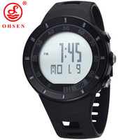 Wholesale Ohsen Military Watch - Brand Men wholesale Digital Watch 2016 Unisex Style OHSEN Sports Military Day Date Watch Calendar Function Alarm relogio masculino W004