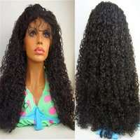 Wholesale french curls wig - Deep Curl Full Lace wig Indian hair glueless full lace human hair wigs with baby hair lace front wig for women