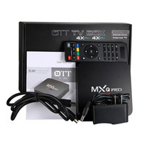 ii caja de tv android al por mayor-MXQ Pro 4k RK3229 Quad Core Android 7.1 4K Smart TV BOX Smart TV BOX abonnement iptv suscripción 2019