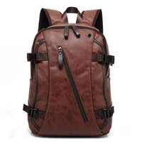 Wholesale Western Style Leather Bags - wholesale 2016 Men Mix Cow Leather Backpacks Men's Fashion Backpack & Travel Bags Western College Style Bags Mochila Feminina
