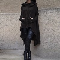 Wholesale Oversize Clothing - 2017 New Preself Oversize Hoodie Sweatshirt Women Casual Outwear Hoody Loose Long Sleeve Mantle Hooded Cover Pullover Clothes