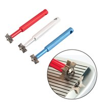 Wholesale Golf Sharpener - Hot seller Excellent Quality 6 Blade Golf Iron Wedge Club Groove Sharpener Cleaning Tool Cleaner Square Groove free shipping