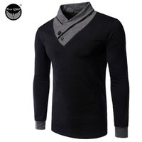 Wholesale Mens Striped Long Sleeve Shirts - T Shirt Homme 2016 Erkek Tshirt Long sleeve Compression Shirt Mens Tshirt Brand T-Shirt Personalized collar Homme Shirt Men Slim
