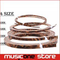 Wholesale Guitar Strips - Cool Guitar Parts Celluloid Guitar Binding Body project Purfling Strip 1650x 6 x1.5mm Tiger Pearl MU1306
