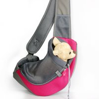 Pet Dog Cat Puppy Front Carrier Mesh Conforto Viagem Tote Shoulder Bag Sling Backpack Confortável Dog Carrier Backpack