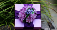 Wholesale Order Wholesale Paper Box - Speical the link for minazemarialai order 30pcs candy boxes wedding purple favor holders