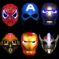 Glow In The Dark leuchtende spiderman superhero Maske Film Guy Masken für Halloween Cosplay Partei-Kostüm-Theater Requisiten liefert