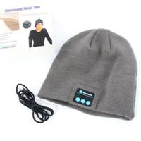 Wholesale cap headphones - Wholesale-New Warm Beanie Hat Wireless Bluetooth Smart Cap Headphone Headset Speaker Mic