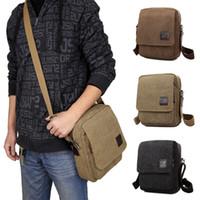 Wholesale Small Sling Shoulder Bags Men - 2016 Wholesale Fashion Multifunction Crossbody Bag Canvas Men Shoulder Purse Travel Bags Man Handbag Sling Bag MCB018