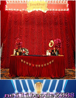 Wholesale Cake Table Swags - High Quality 3x6m elegant water wave wedding curtain backdrops swags drapes for wedding party decoration free shipping MYY
