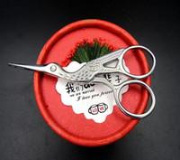 stoffe trimmt großhandel-New Silver Stork Sewing Scissors Trimmen Schneiderscheren Kreuzstich Kohlenstoffstahl Schneider Schere Nähen Stickerei Stoff costura