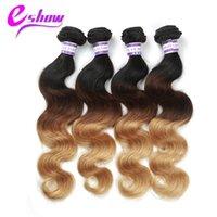 Wholesale European Hair Extentions - Tissage Bresilienne Ombre Brazilian Hair Extentions Brazilian Ombre Body Wave Hair Weft Rosa Brazilian Virgiin Body Wave Hair