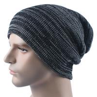 Wholesale Mens New Woolen Caps - 2016 New Street Casual Unisex Knitted Woolen Turban Hat women Skullies Beanies Caps Mens Outdoor Ski Cap Autumn Winter warm Hats