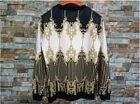 nouvelle ligne sportswear achat en gros de-Marque New Fashion But Tour Tour Hommes Sportswear Imprimer Baroque lignes Hommes Hoodies Pull Hip Hop Hommes Survêtement Sweat-shirts