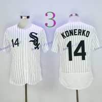 Wholesale Cheap Baseball Pullovers - 2016 Cheap 14 Paul Konerko Jersey Baseball Flexbase Chicago White Sox Jerseys Pullover Cool Base Pinstripe White Black Grey Stitched Logos