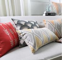 Wholesale Nordic Covers - Nordic Minimal Geometry Stripe Lines Rhombus Print Cushions Covers Mountain Arrows Pillowcase Decorative Linen Cotton Pillow Cushion Cover