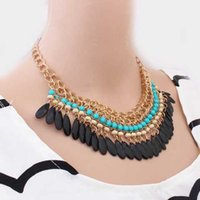 Wholesale Costumes For Short Women - Hot sale costume jewelry stores Bohemia national wind short necklace for women charm bracelets chokers necklaces jewellery online