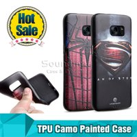 Wholesale Cameo Backing - My Colors Soft TPU Super Hero Cameo Painted Back Cover Case for iphone 6 6s plus Samsung galaxy On5 S7 S6 edge A510 LG G5 V10 painted case