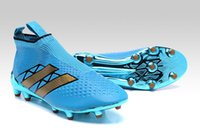 Wholesale Elite Football Boots - 2016 latest Ace 16+ Pure Control FG - sky blue Mens football boots best quality soccer shoes Elite Top soccer cleats