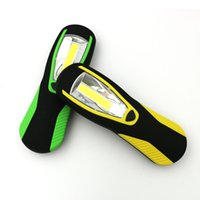 Wholesale Magnetic Led Flashlights - COB LED Flashlight Magnetic Work Light Rechargeable Stand Hanging Swivel Hook Rotation Power Bank Torch Lamp