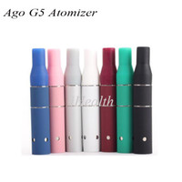 Wholesale G5 Chamber - Ago G5 Atomizer Dry Herbal Atomizer with Ceramic Chamber 510 Thread Colorful Ago G5 Vaporizer Free Free Shipping