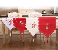 Wholesale White Tablecloth Runner - Satin Table Runner for Christmas Wedding Holiday Decor Favor Elegant Tablecloth 40*170cm Christmas Dinner Table Décor wa4224
