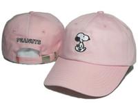 Wholesale Driver Caps Hats - Cheap Wholesale PEANUTS Adjustable Hats Strapback Hats Baseball Caps Men women PEANUTS Curved Brim PEANUTS Caps Village Truck Driver Hats