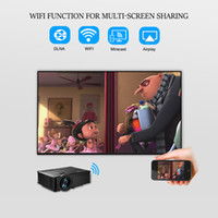 Digital Mini Film Projektor Kaufen -Großhandels-drahtloses Spiegeln Multi-Screen Airplay Miracast 1500Lumen HD Digital Multimedia LED Film Mini Projektor Proyector Beamer SD60