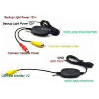 Wholesale Wireless System Car - Parking Assist 2.4G Wireless 4.3 Inch TFT LCD Mirror Monitor With Car Rear view camera Reverse LEDs Night Vision Sensor System