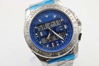 Wholesale Diving Digital - AAA watch store jason007 Luxury Brand watch men B-1 chronograph digital blue Dial Stainless Steel quartz Watch Mens dive Watches