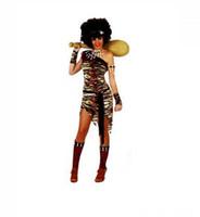 trajes originais do carnaval venda por atacado-Novas Mulheres Homens Africano Original Indiano Savage Costume Selvagem Cosplay Trajes de Carnaval de Halloween Vestido Extravagante Decoração Do Partido