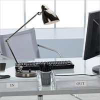 Wholesale Office Desk Styles - 2015 new style modern LED three sections of dimmer folding desk lamp office study original table light eye protection long arm metal dimmabl