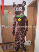 Wholesale Scooby Costumes - Free shipping Scooby Doo cartoon mascot than a dog suit, brave lovely Scooby mascot costume.