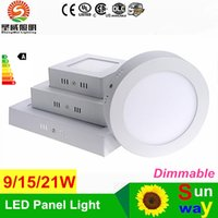 best led ceiling mount surface - Indoor lamp led panel light 9W 15W 21W 30W kitchen light ceiling round surface mounted Aluminum 2835SMD 18w panel lights
