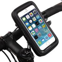 iphone bike bagaj çantası toptan satış-Evrensel Su Geçirmez Bisiklet Bisiklet Gidon Montaj Tutucu Braketi Çanta Kılıf Samsung S6 S7 Kenar Mega 6.3 iPhone 6 6 S Artı HTC Sony ZTE