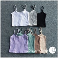 Camis black bralet - 2016 NEW Fashion Sexy Women Bralette Bralet Bustier Crop Top Cami Tank Tops European style elasticity Sleeveless Vest color
