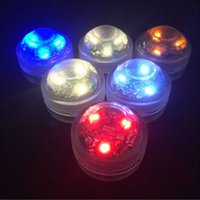 Wholesale Submersible Centerpiece Lights - Super Bright Triple LEDs Tealight Submersible Led Light Waterproof F Wedding Xmas Valentine party centerpiece decoration