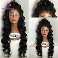 bakire kıvırcık 26 inç toptan satış-4 Stilleri İnsan Saç Dantel Peruk 8 -26 inç Brezilyalı Virgin Remy İnsan Saç Peruk Siyah Kadınlar Için Düz Derin Kıvırcık Vücut Dalga Gevşek Dalga Peruk