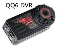 Wholesale Camera Tracking - Smallest QQ6 Full HD 1080P Mini DV DVR 12.0 MP Wide Angle Camera IR Night Vision Montion Dection Mini DV free shipping+track Free Shipping