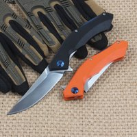 blue moon toptan satış-Ücretsiz kargo G10 kolu D2 blade Blue Moon katlanır bıçak 58HRC açık taktik survival bıçak programı kamp el aracı