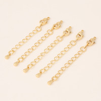 Wholesale Gold Chain Extensions - Jewelry accessories materials gold lobster deduction diy bracelet accessories necklace deduction chain extension deduction wholesale Charms