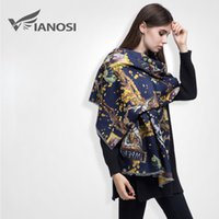 Fashion cashmere oil - 5pc Brand Luxury Oil Printed Scarf Women Winter Cashmere Female Foulard Shawl VS027